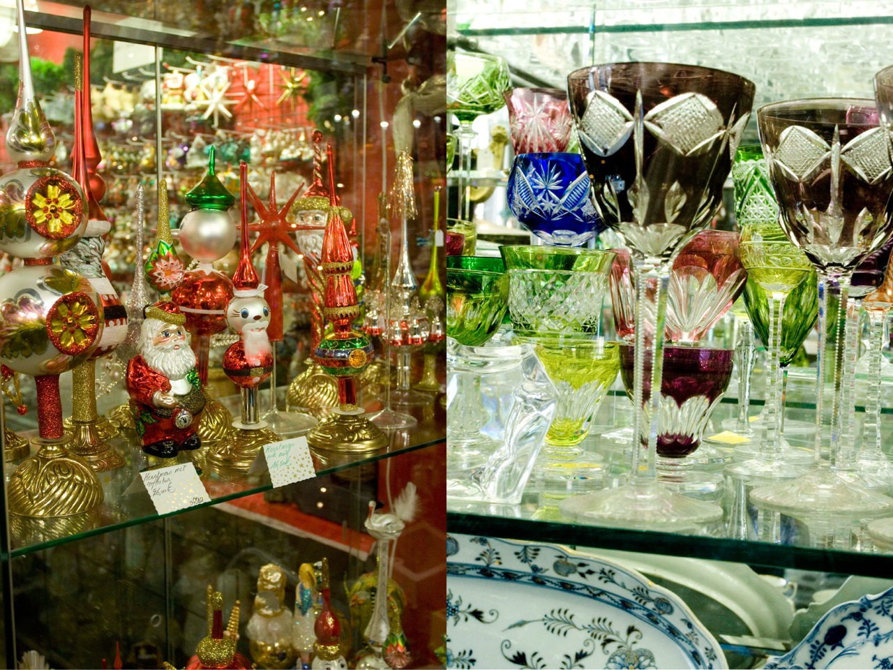 Kloosterstraat, lot's of antique shops; don't miss the one with the old christmas decoration. Here you can find everything to dress the christmas table.