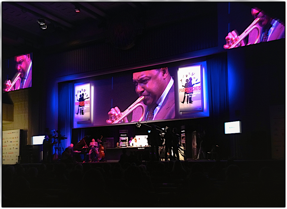 Wynton Marsalis & david Kinch at Paris des Chefs