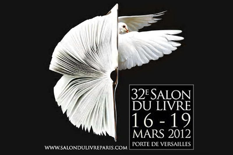 The poster of the new salon du livre in paris feature a beautiful