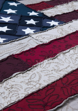 """""""American flag, made in the US by Alabama Chanin"""" photo by Robert Rausch"""