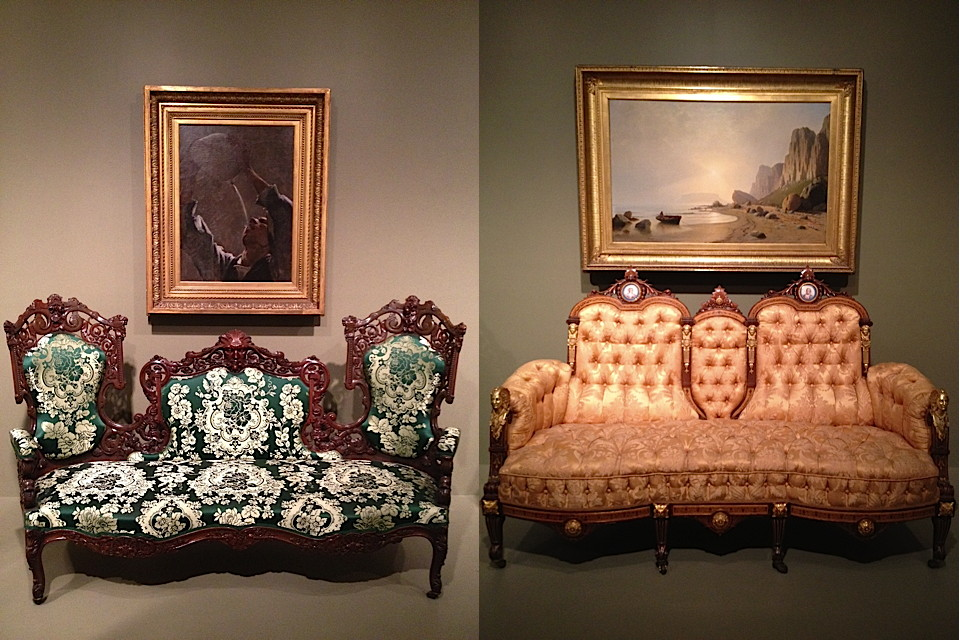 Sofa, 1855:65, New York - Sofa, 1860/ 70, New York, rosewood & ormolu - photo by emmanuelle linard