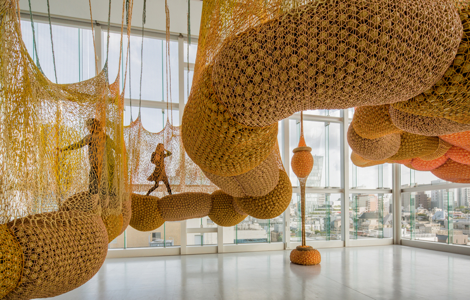 Ernesto Neto at Louis Vuitton Tokyo photo Jeremie Souteyrat