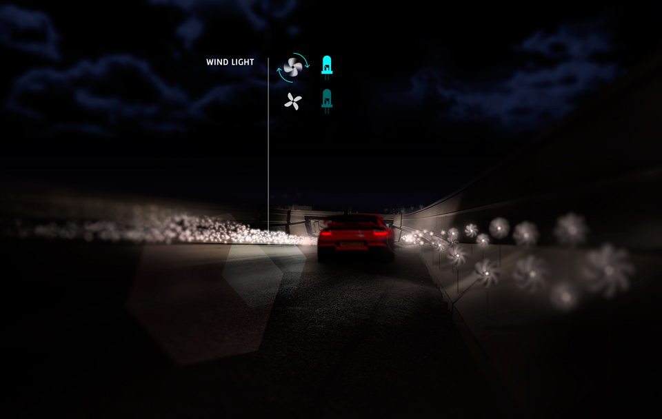Smart Highway -Wind Light - Studio Roosegaarde Heijmans