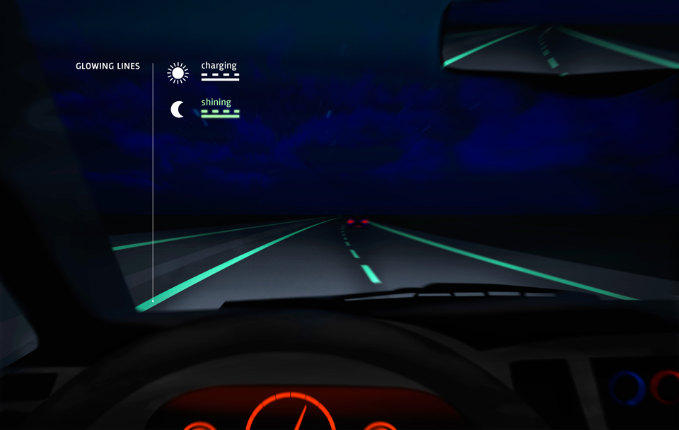Smart-Highway-glowing-lines-Studio-Roosegaarde-Heijmans