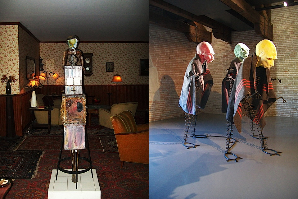 art works : left by kienholz-right by schuette