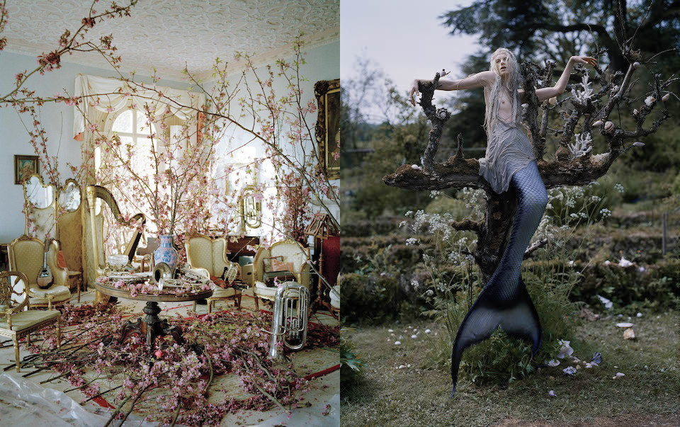 Left: Magical Thinking, W March 2012 shot by Tim Walker. Right: Far,far from Land, W shot December 2013 by Tim Walker