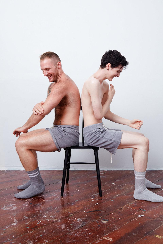Excited homo boys having pleasure